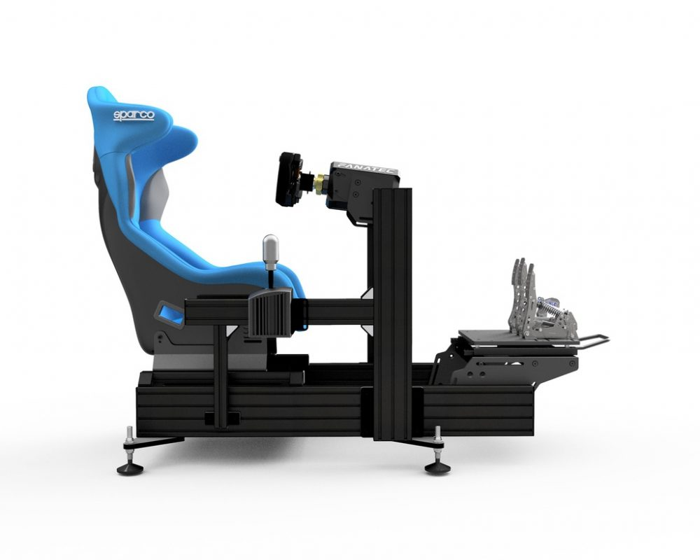 P1-X sim racing cockpit - Black -Wheel deck - with accessories 2