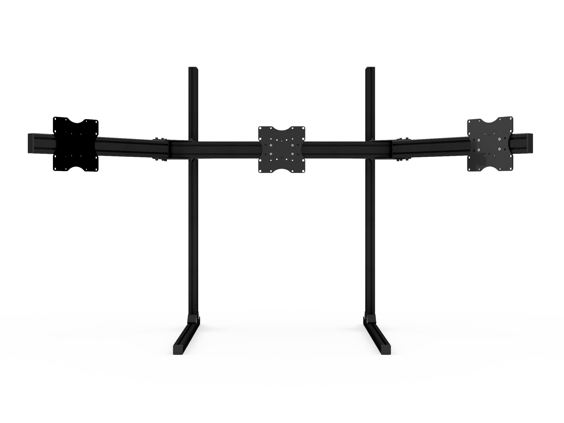 shop.gperformance.eu - Sim-Lab Triple monitor stand - VESA 100_200 - black - G-Performance