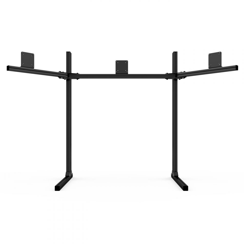 shop.gperformance.eu - Sim-Lab Triple monitor stand - VESA 75_100 - black - front view 2 - G-Performance