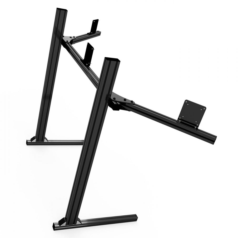 shop.gperformance.eu - Sim-Lab Triple monitor stand - VESA 75_100 - black - iso view 3 - G-Performance