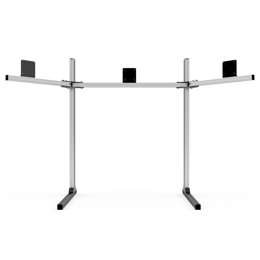 shop.gperformance.eu - Sim-Lab Triple monitor stand - VESA 75_100 - grey - front view 2 - G-Performance