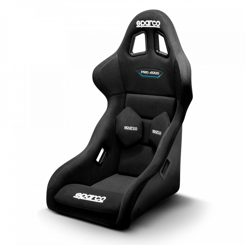 shop.gperformance.eu - Sparco Pro2000 QRT simracing seat - front iso view - G-Performance