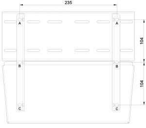 shop.gperformance.eu - Heusinkveld Sim Pedals Sprint Baseplate bottom drawing dimensions