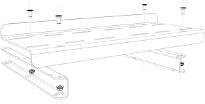 shop.gperformance.eu - Heusinkveld Sim Pedals Sprint Baseplate iso drawing rear panel