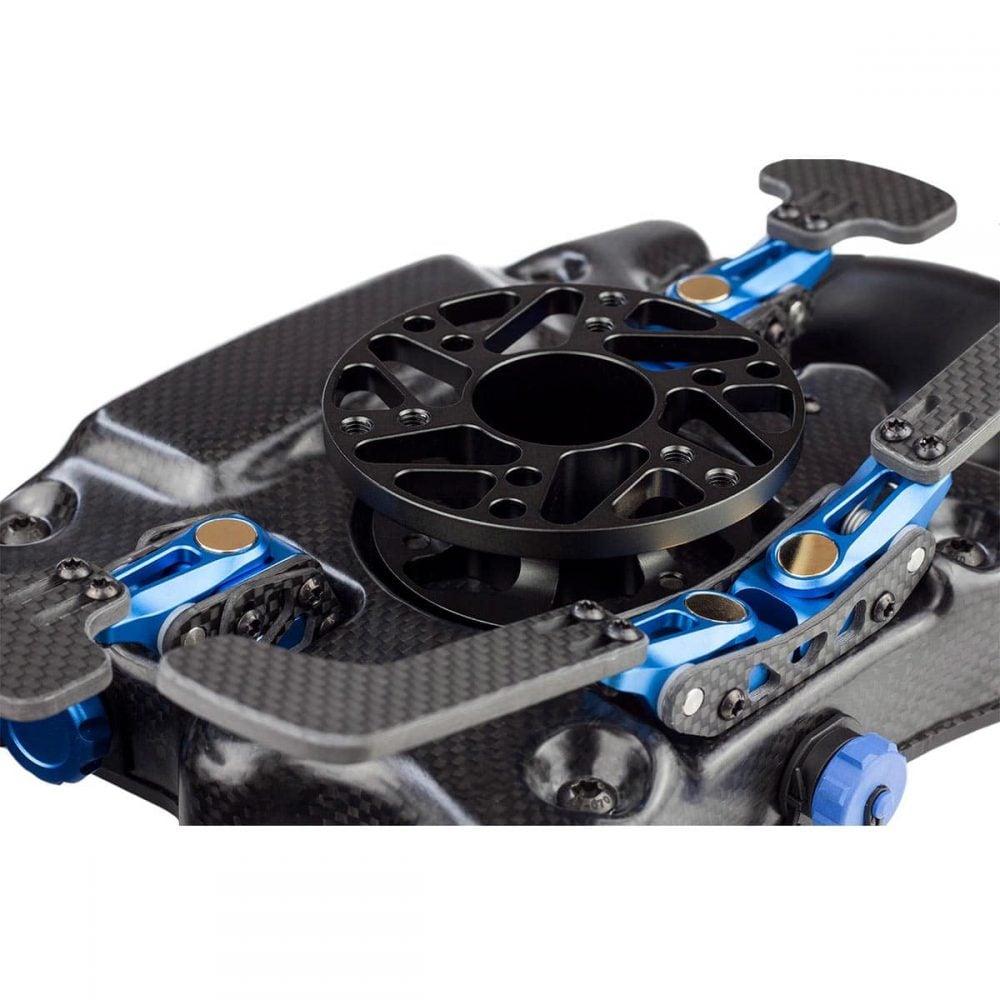 shop.gperformance.eu - Cube Controls Formula CSX professional carbon fiber sim racing wheel rear view closeup