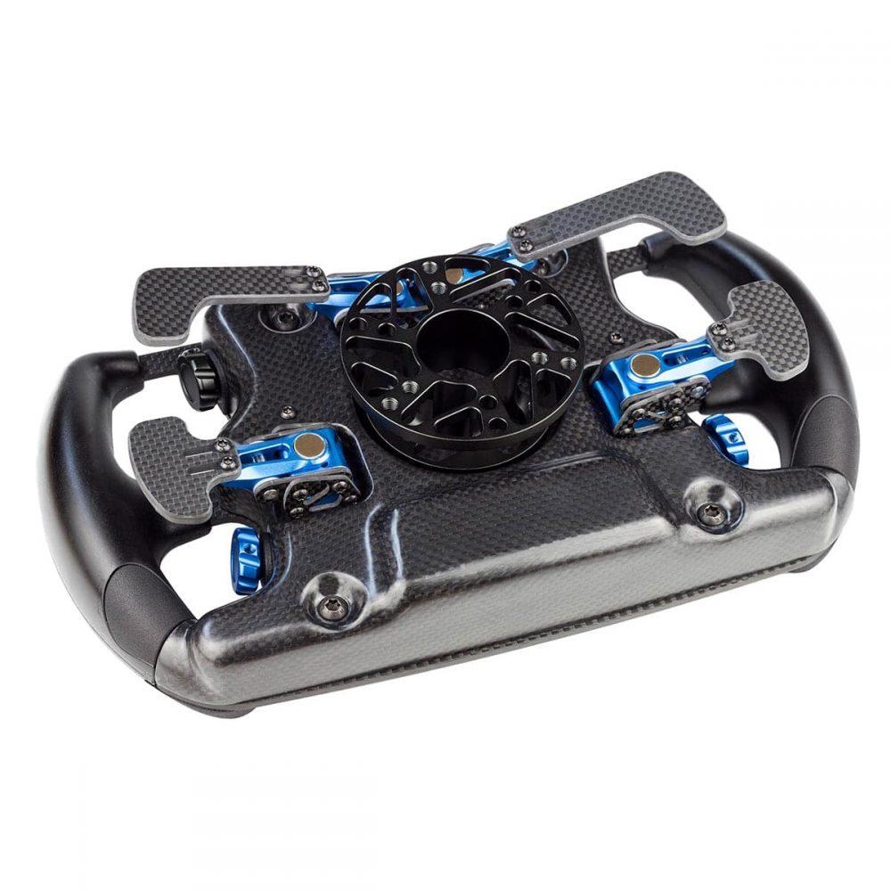 shop.gperformance.eu - Cube Controls Formula CSX professional carbon fiber sim racing wheel rear view top