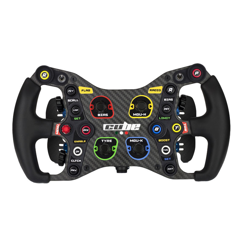 shop.gperformance.eu - Cube Controls Formula Light Sim Racing Steering Wheel front view