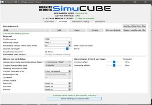 shop.gperformance.eu - SimRacingBay SimuCUBE Direct Drive Wheel configuration tool
