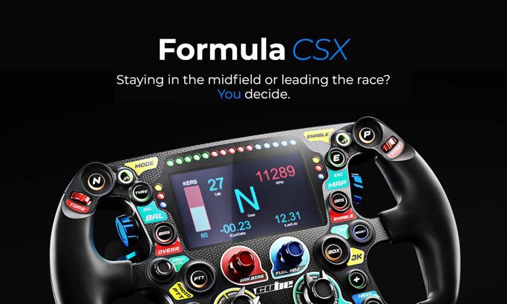 shop.gperformance.eu - Cube Controls Formula CSX Sim Racing Wheel iso view 3