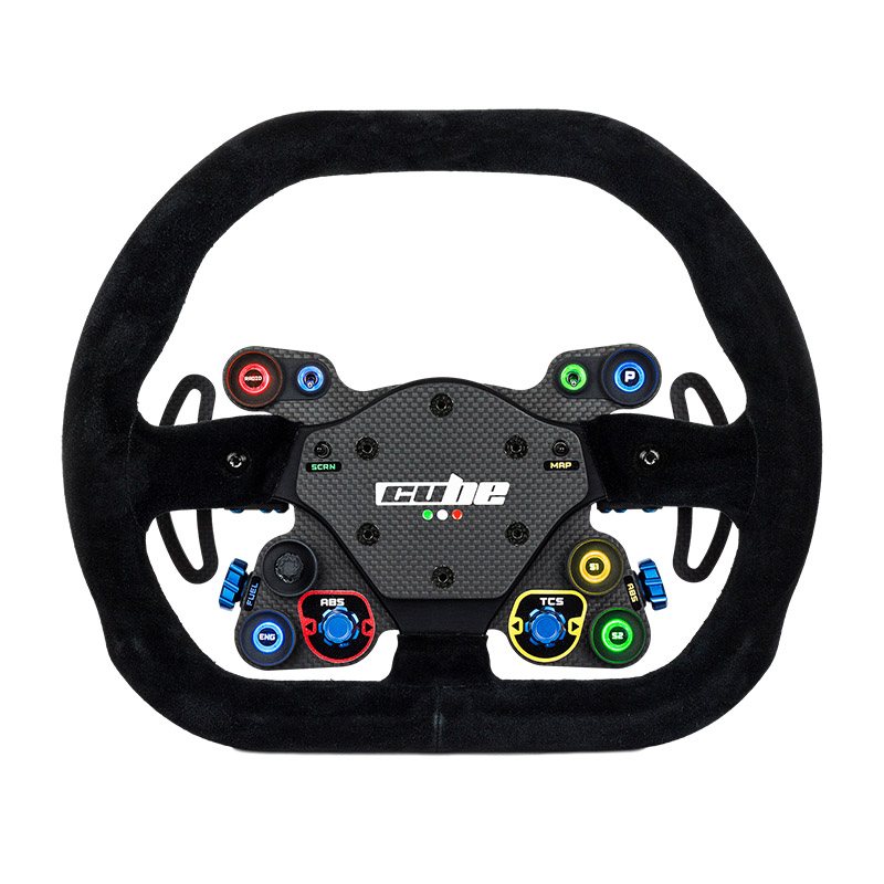 shop.gperformance.eu - Cube Controls GT Lite Sim Racing Wheel front view 2