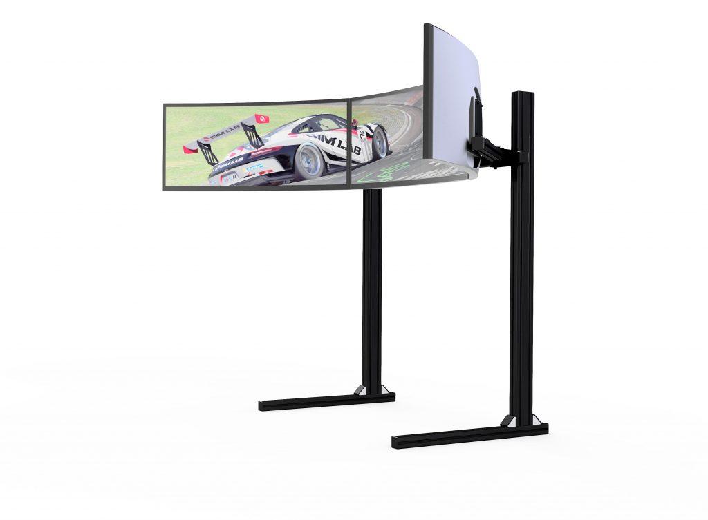 shop.gperformance.eu - Sim-Lab Triple Monitor Mount black anodized iso view