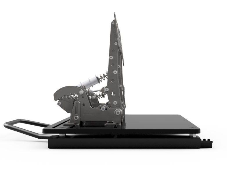 shop.gperformance.eu - Sim-Lab pedal slider baseplate pre Heusinkveld Pro Ultimate side view
