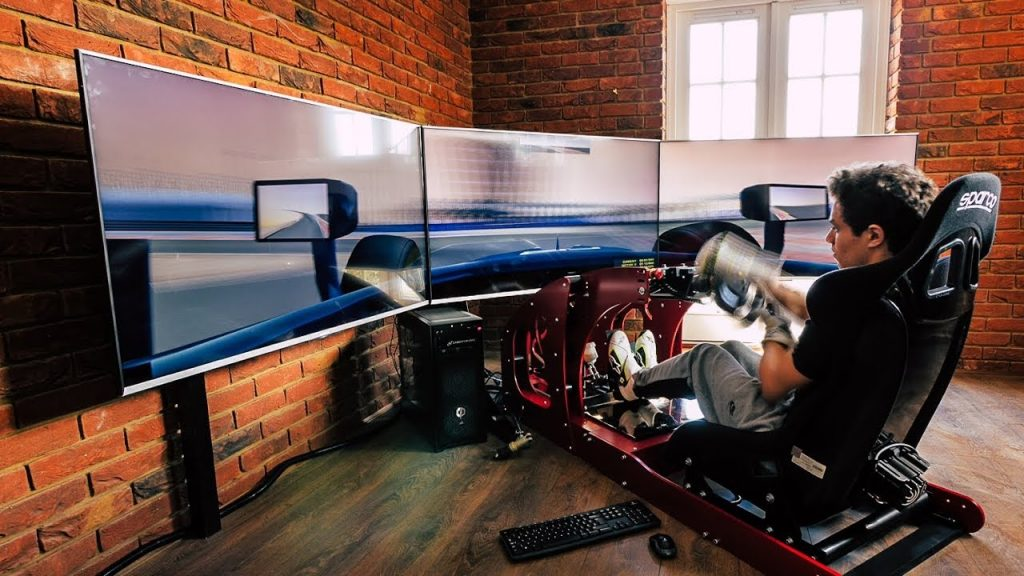 shop.gperformance.eu –Lando Norris racing simulator iso view