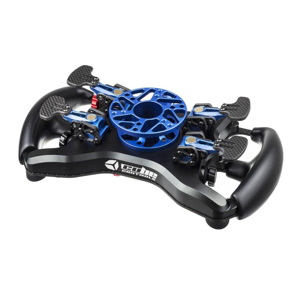 Cube Controls Formula Pro USB eSports wheel - blue - rear view