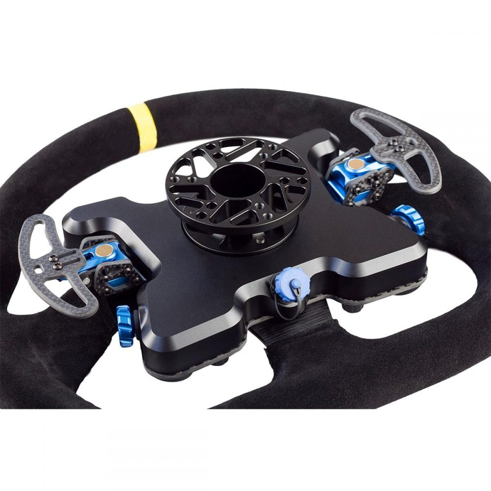 shop.gperformance.eu - Cube Controls GT Pro MOMO Professional Sim Racing Steering Wheel - for Direct Drive Wheel, Fanatec, Accuforce, Thurstmaster, Logitech iso rear view
