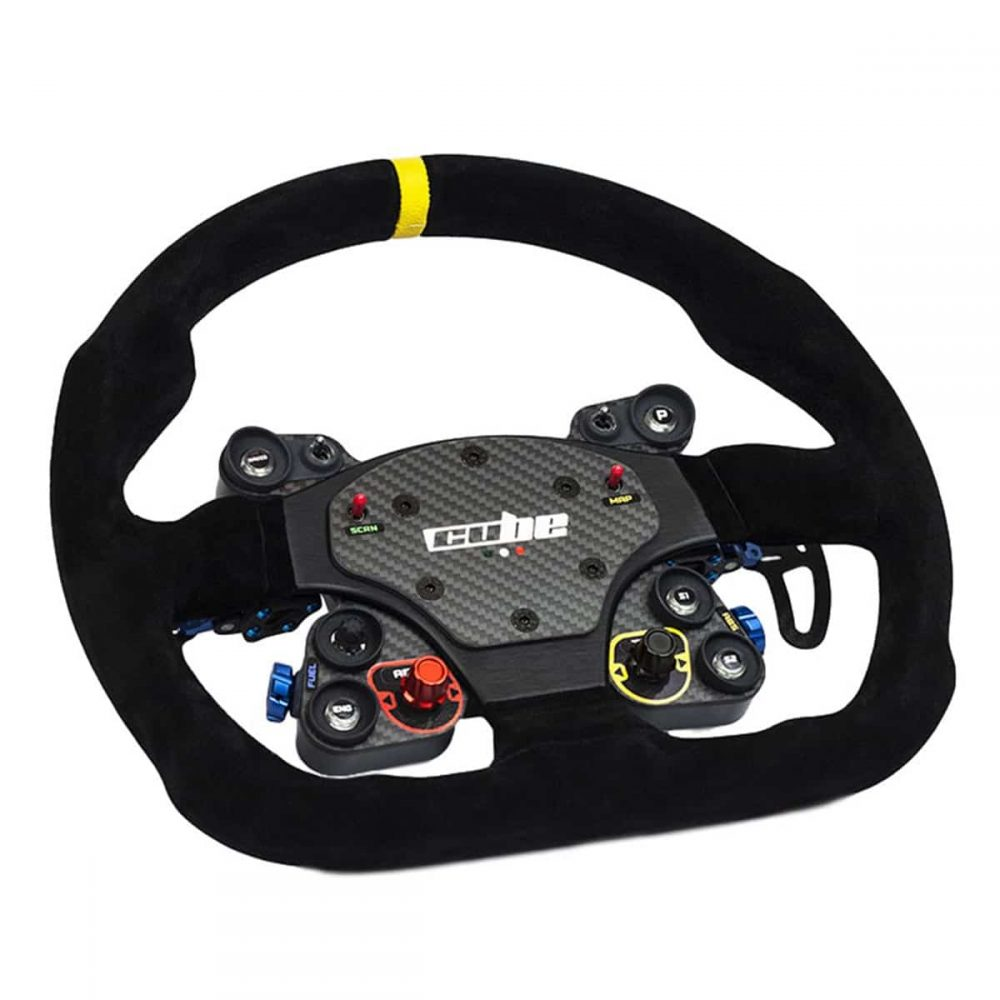 shop.gperformance.eu - Cube Controls GT Pro MOMO Sim Racing Steering Wheel - for Direct Drive Wheel, Fanatec, Accuforce, Thurstmaster, Logitech iso view