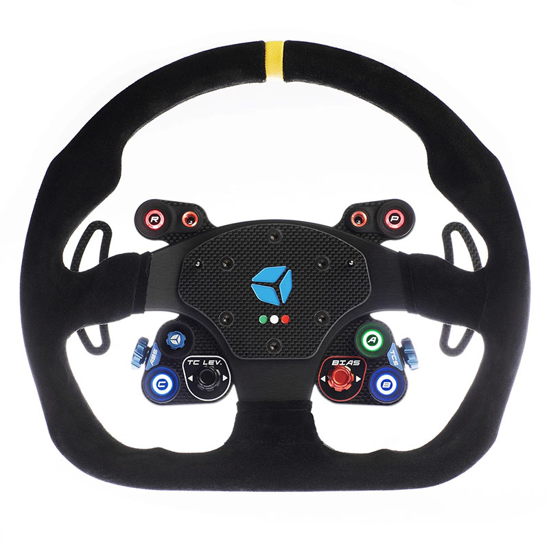 shop.gperformance.eu - Cube Controls GT Pro MOMO Sim Racing Steering Wheel - front view - G-Performance