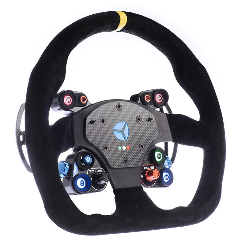 shop.gperformance.eu - Cube Controls GT Pro MOMO Sim Racing Steering Wheel - iso view - G-Performance