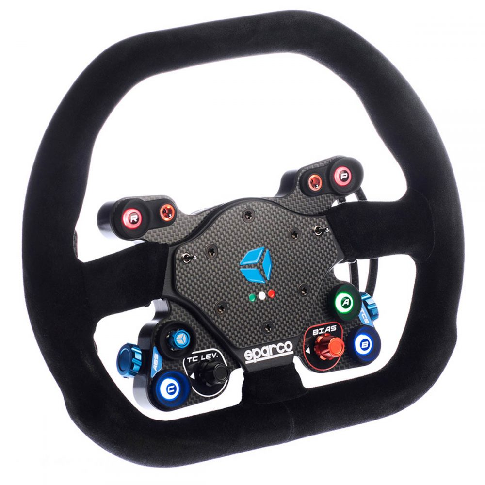 shop.gperformance.eu - Cube Controls GT Pro Sparco Classic USB carbon fiber sim racing wheel WRC rally - Direct Drive wheel OSW Logitech Thurstmaster Fanatec G-Performance