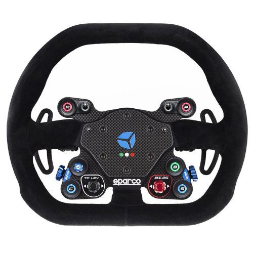 shop.gperformance.eu - Cube Controls GT Pro Sparco Classic - USB sim racing eSports wheel with Sparco P310 rim - front view