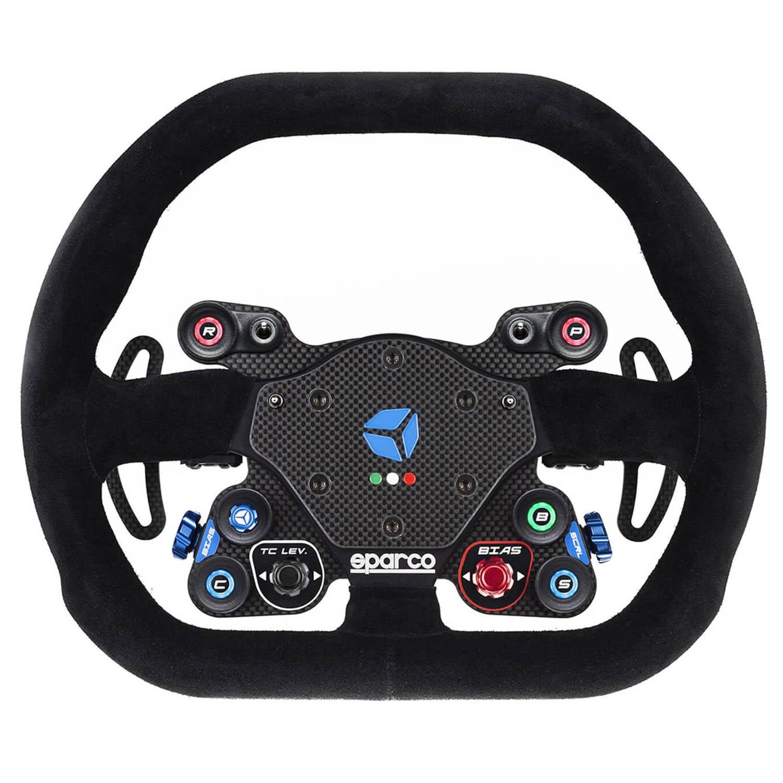 shop.gperformance.eu - Cube Controls GT Pro Sparco Classic - USB sim racing eSports wheel with Sparco P310 rim - front view