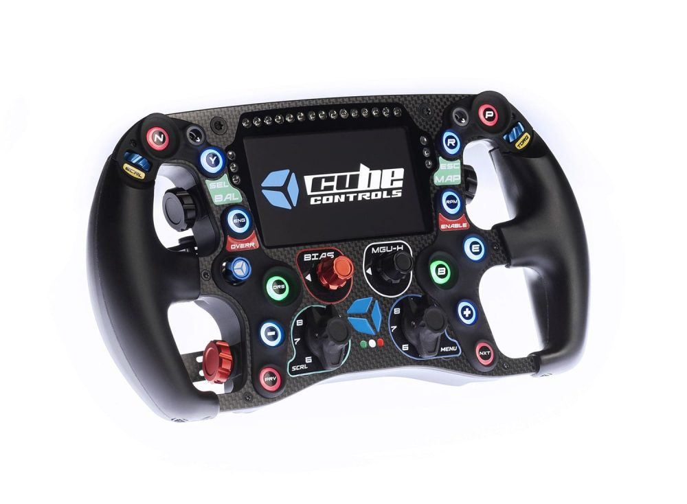 shop.gperformance.eu - Cube Controls Formula CSX 2 Sim Racing Steering Wheel iso view front side view