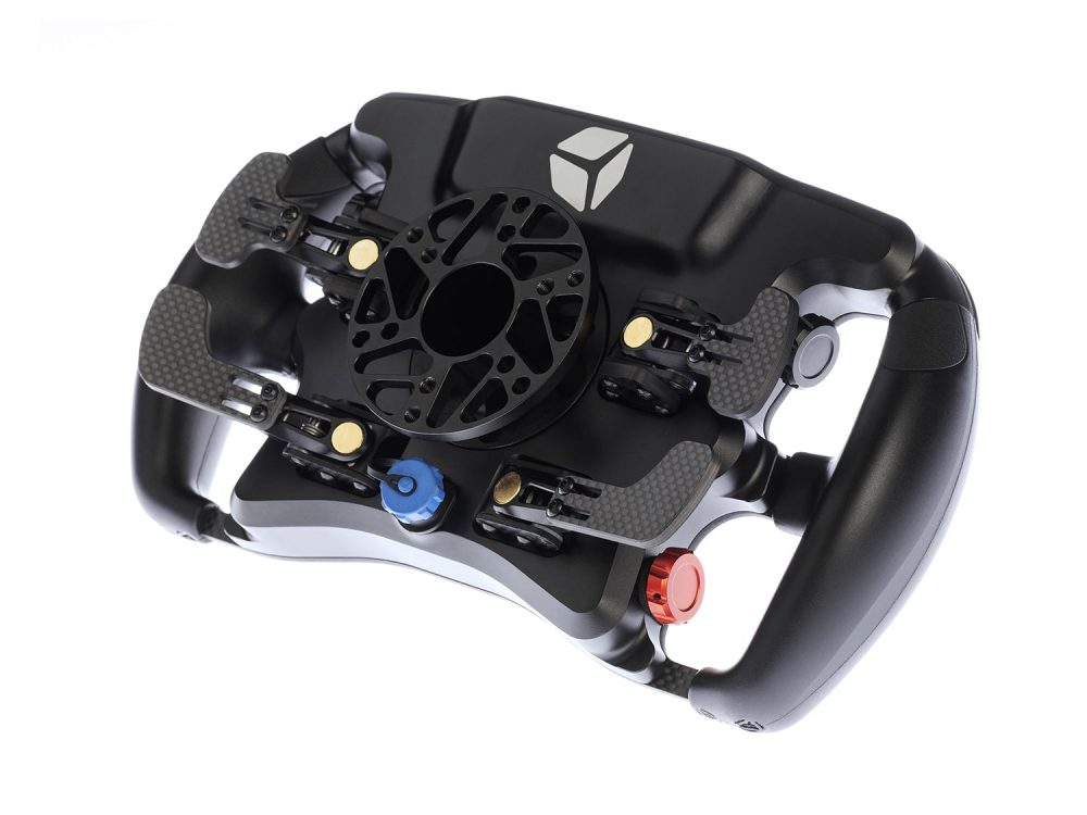 shop.gperformance.eu - Cube Controls Formula CSX 2 Sim Racing Steering Wheel iso view rear view
