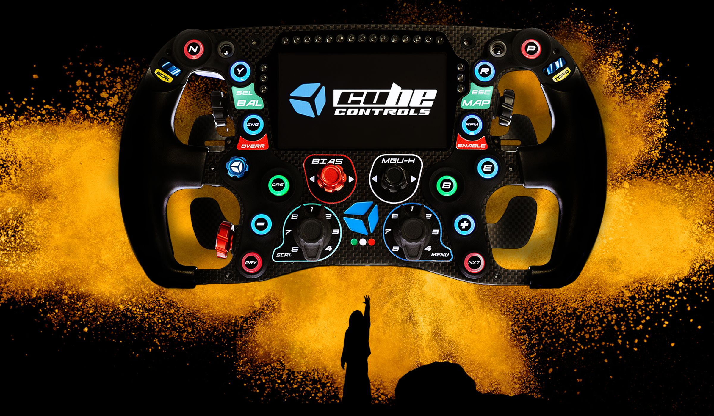 shop.gperformance.eu - Cube Controls Formula CSX 2 carbon fiber PC USB sim racing wheel Fanatec Logitech Thurstmaster Accuforce SimuCube 2 - G-Performance