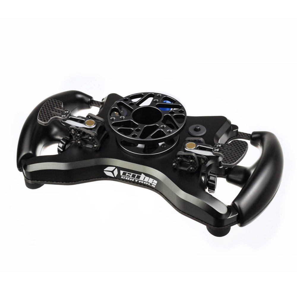 Cube Controls Formula Pro Wireless Simucube eSports wheel - rear iso view - G-Performance