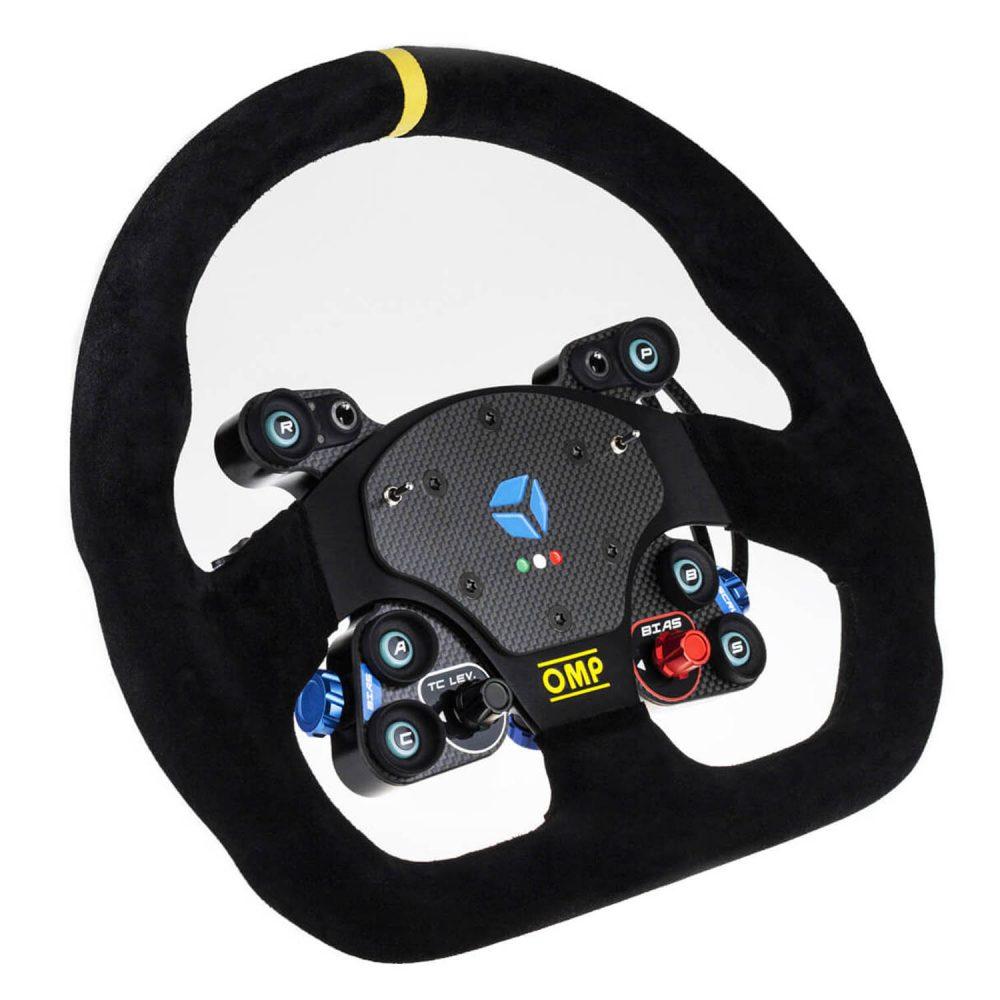 shop.gperformance.eu - Cube Controls GT Pro OMP Wireless - eSports sim racing wheel - iso view