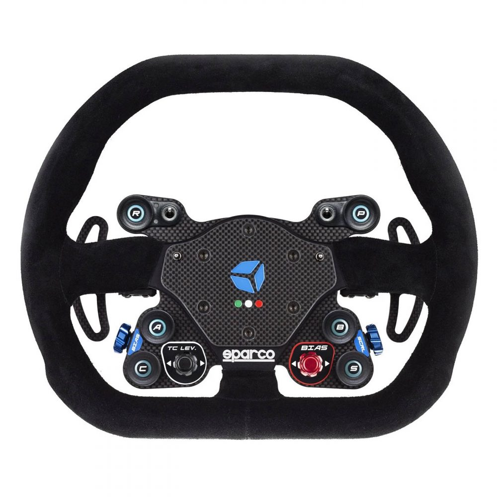 shop.gperformance.eu - Cube Controls GT Pro Sparco Wireless - simracing eSports steering wheel - lights off - G-Performance