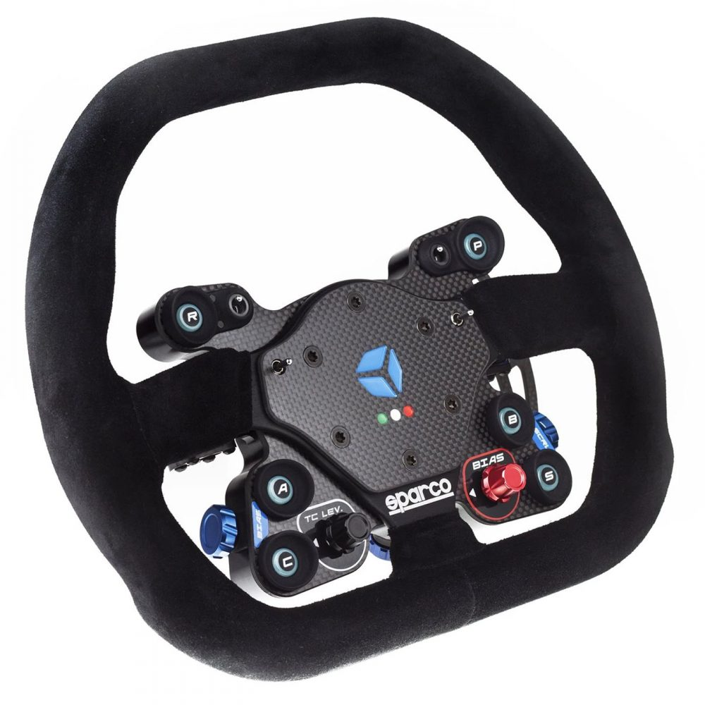 shop.gperformance.eu - Cube Controls GT Pro Sparco Wireless - simracing eSports steering wheel - lights off - iso - G-Performance