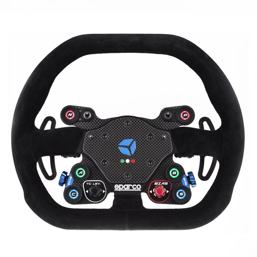 shop.gperformance.eu - Cube Controls GT Pro Sparco Wireless - simracing eSports steering wheel - lights on - G-Performance