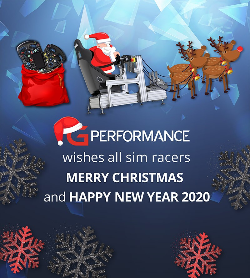 shop.gperformance.eu - G-Performance wishes all simracers merry christmas and happy new year