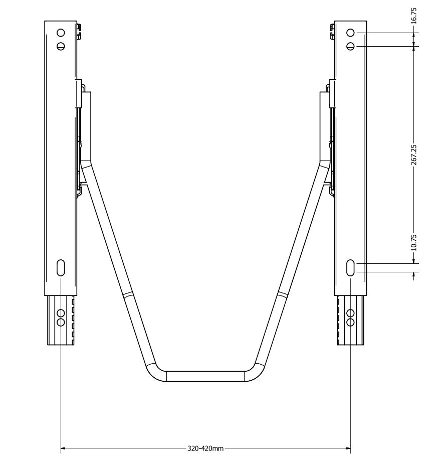 shop.gperformance.eu - Sparco serie guide-scorrevoli eco- seat slider drawing - G-Performance