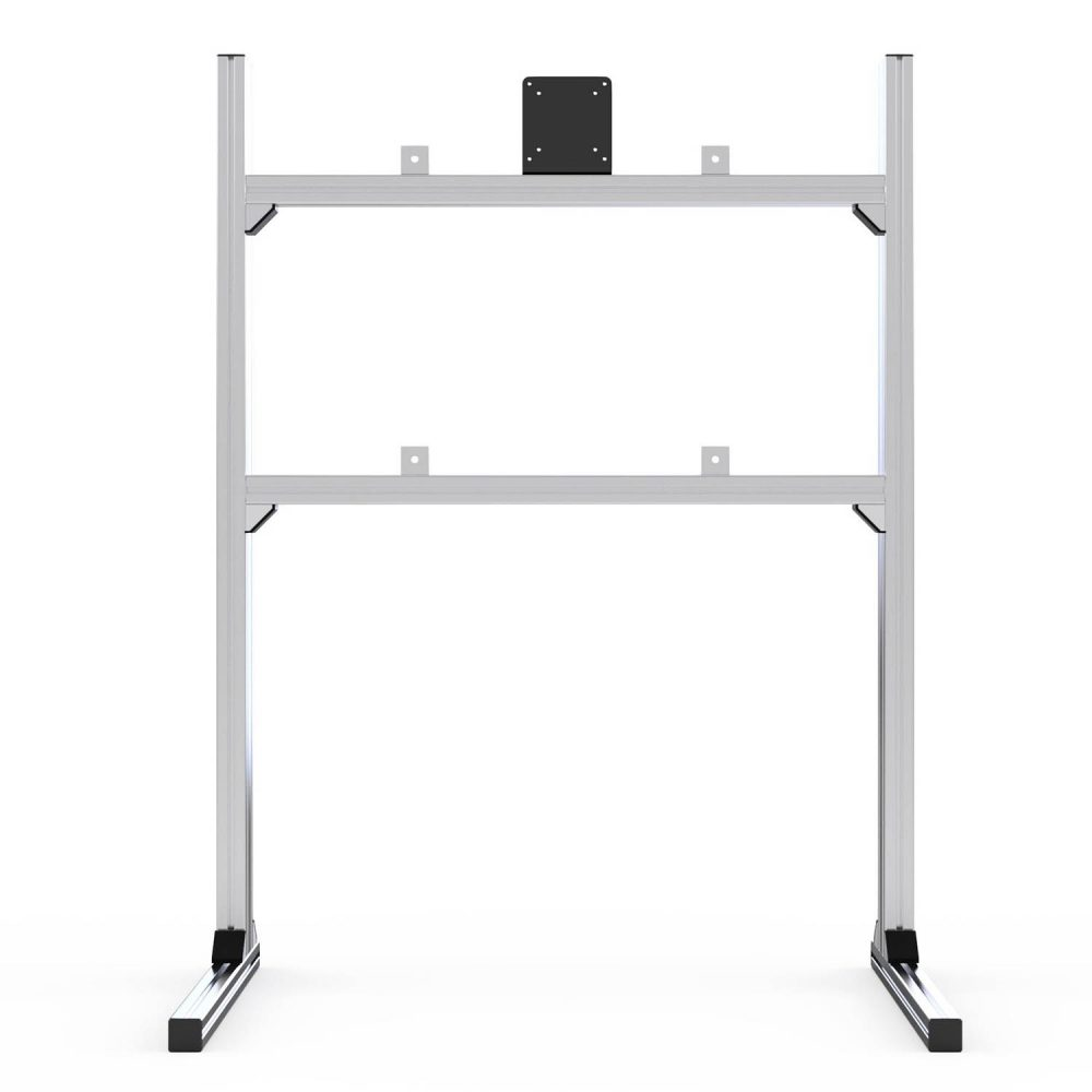 shop.gperformance.eu - Sim-Lab single monitor TV stand grey front