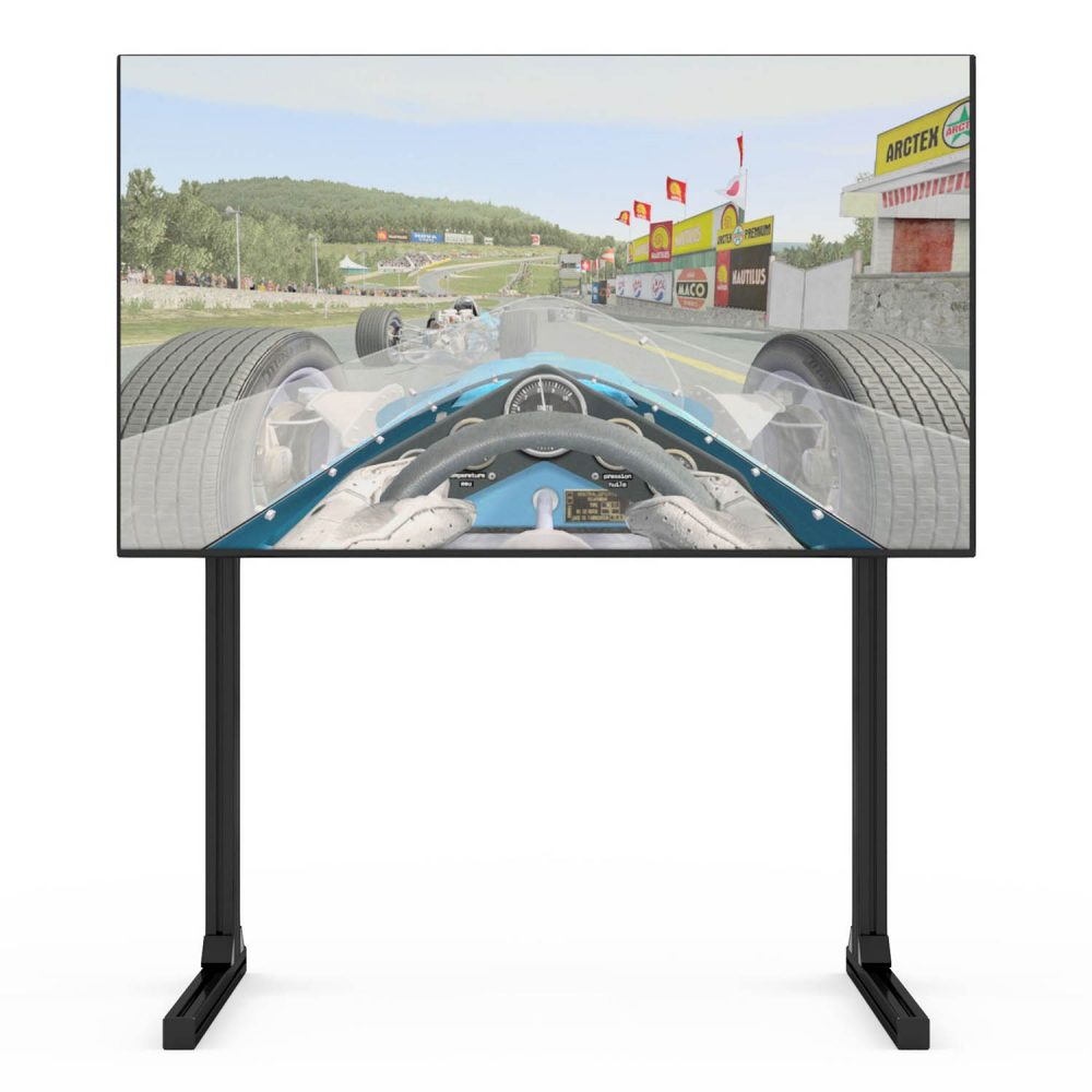 shop.gperformance.eu - Sim-Lab single monitor TV stand with display front