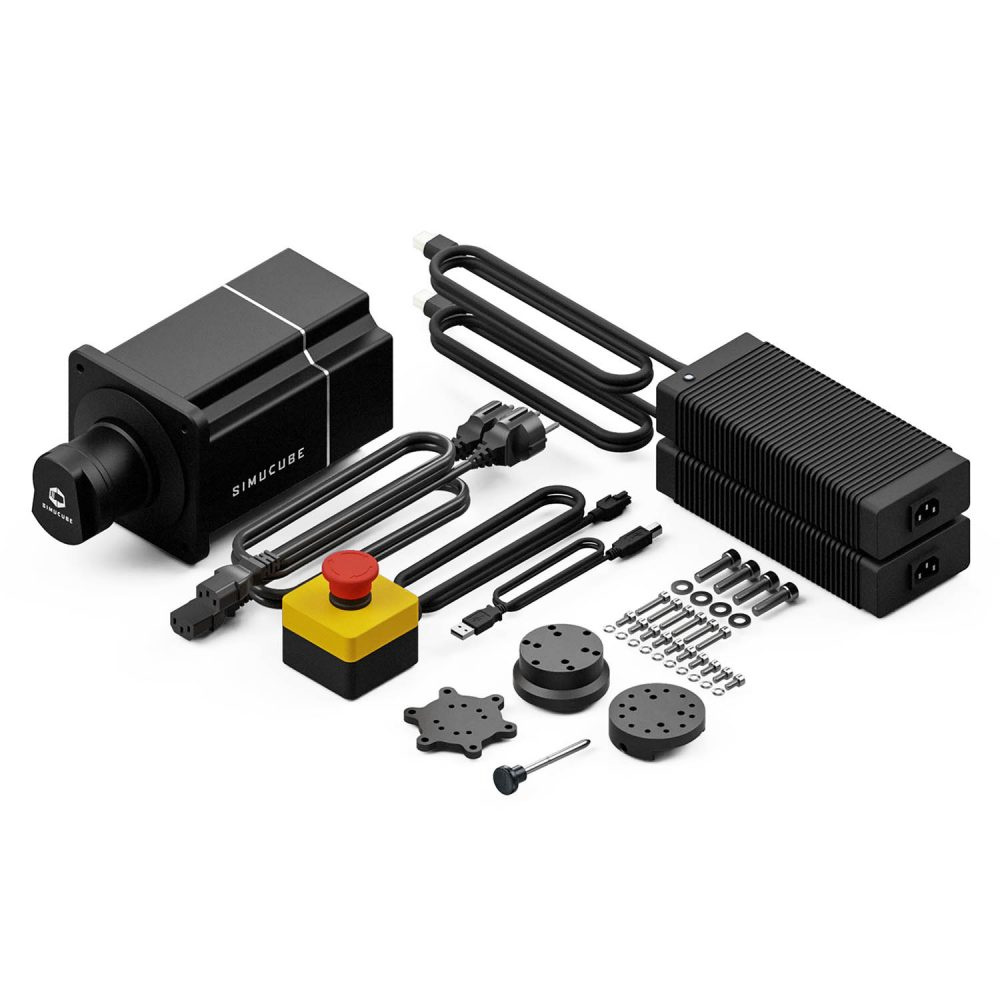 shop.gperformance.eu - SimuCube 2 Pro direct drive wheel steering system - package contents