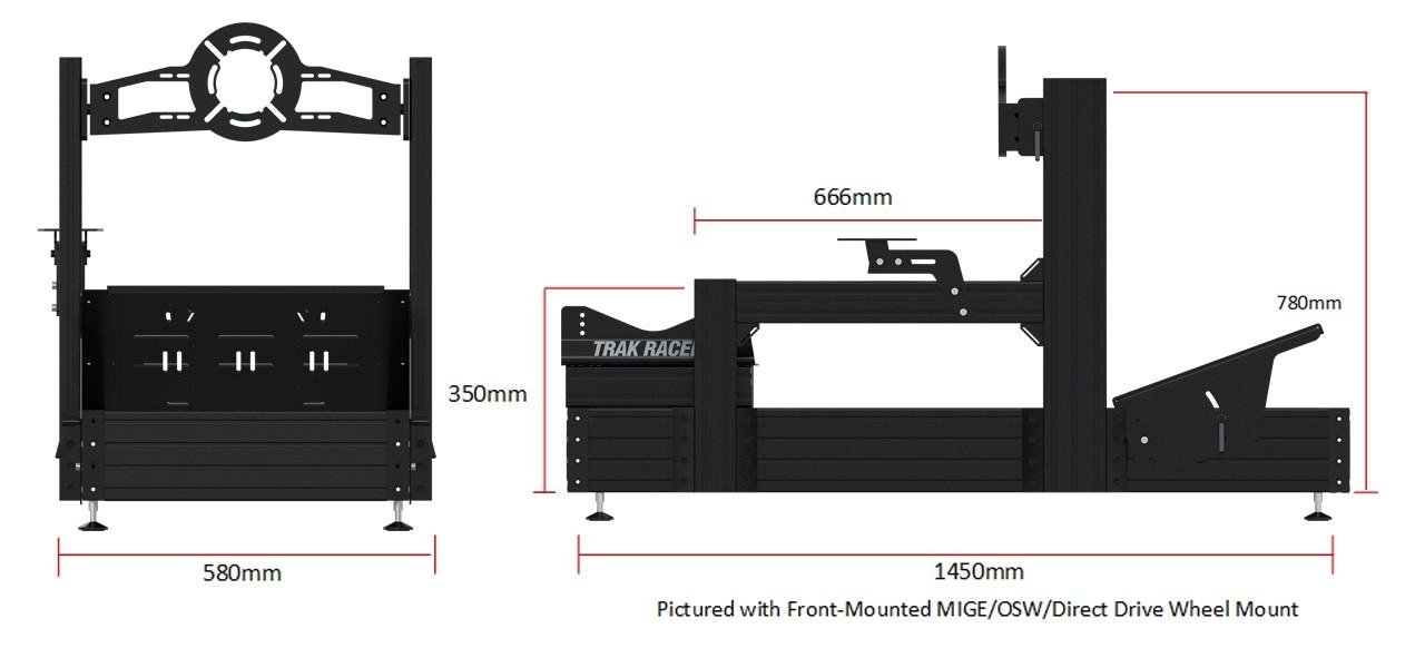 shop.gperformance.eu - Trak Racer TR160 dimensions