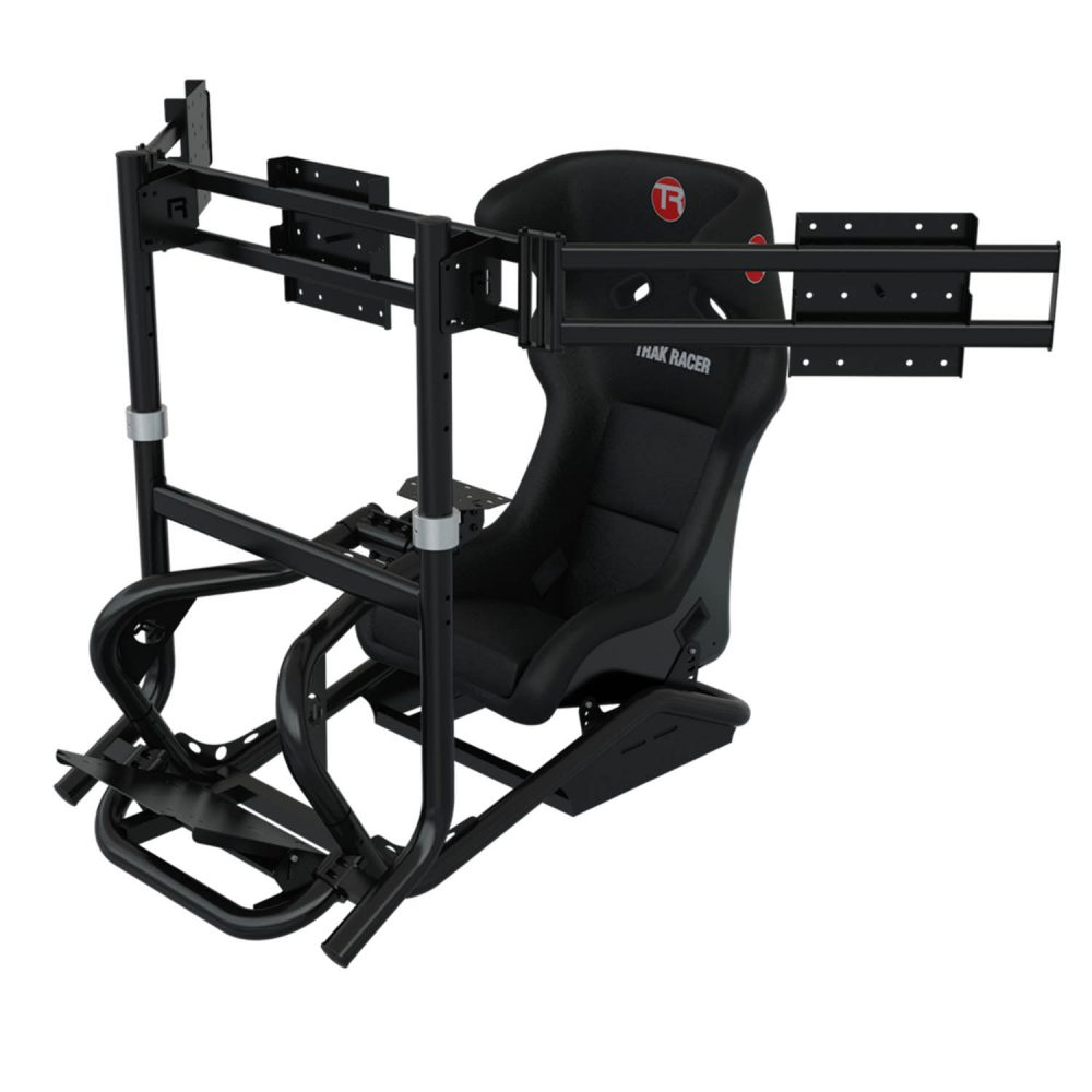 shop.gperformance.eu - Trak Racer TR8 Triple monitor mount installed iso 1
