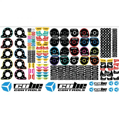 shop.gperformance.eu - Cube Controls simracing wheel Stickers 2.0 - G-Performance