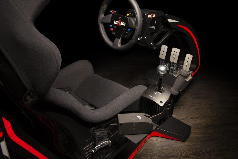 shop.gperformance.eu - IMSIM professional 3DOF motion simulator - detail shifter