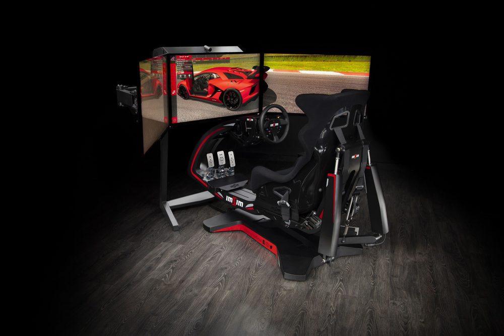 shop.gperformance.eu - IMSIM professional 3DOF motion simulator - iso with screens
