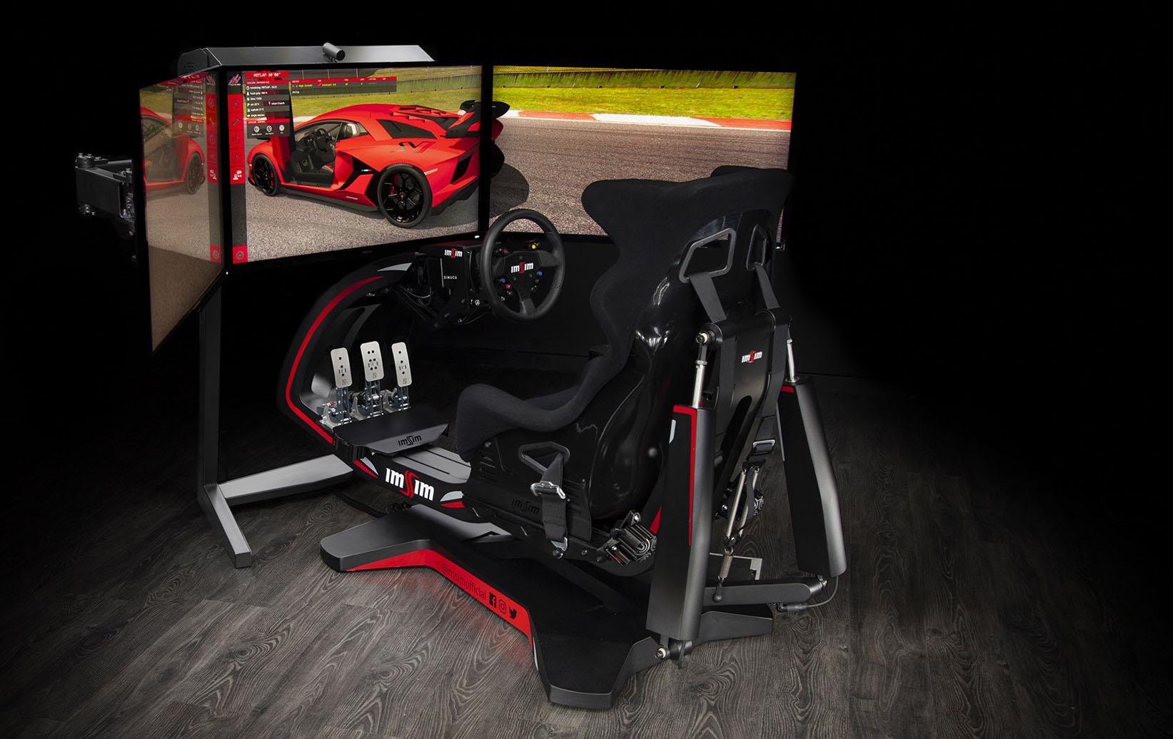 shop.gperformance.eu - IMSIM professional 3DOF motion simulator - iso with screens 2