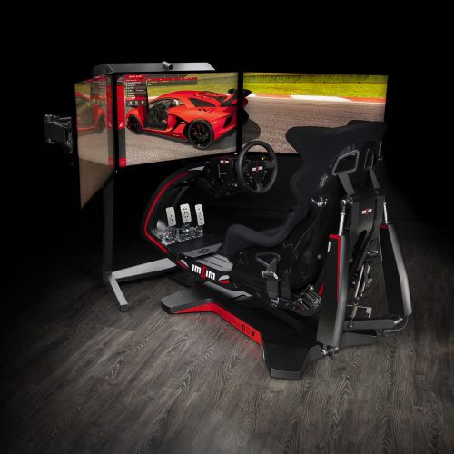 shop.gperformance.eu - IMSIM professional 3DOF motion simulator - iso with screens