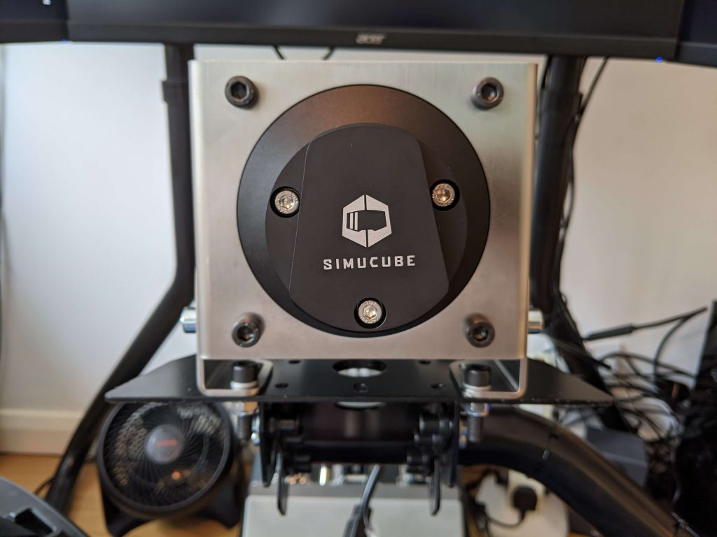 Simucube 2 pro assembled and fitted to an RSEAT RS1.