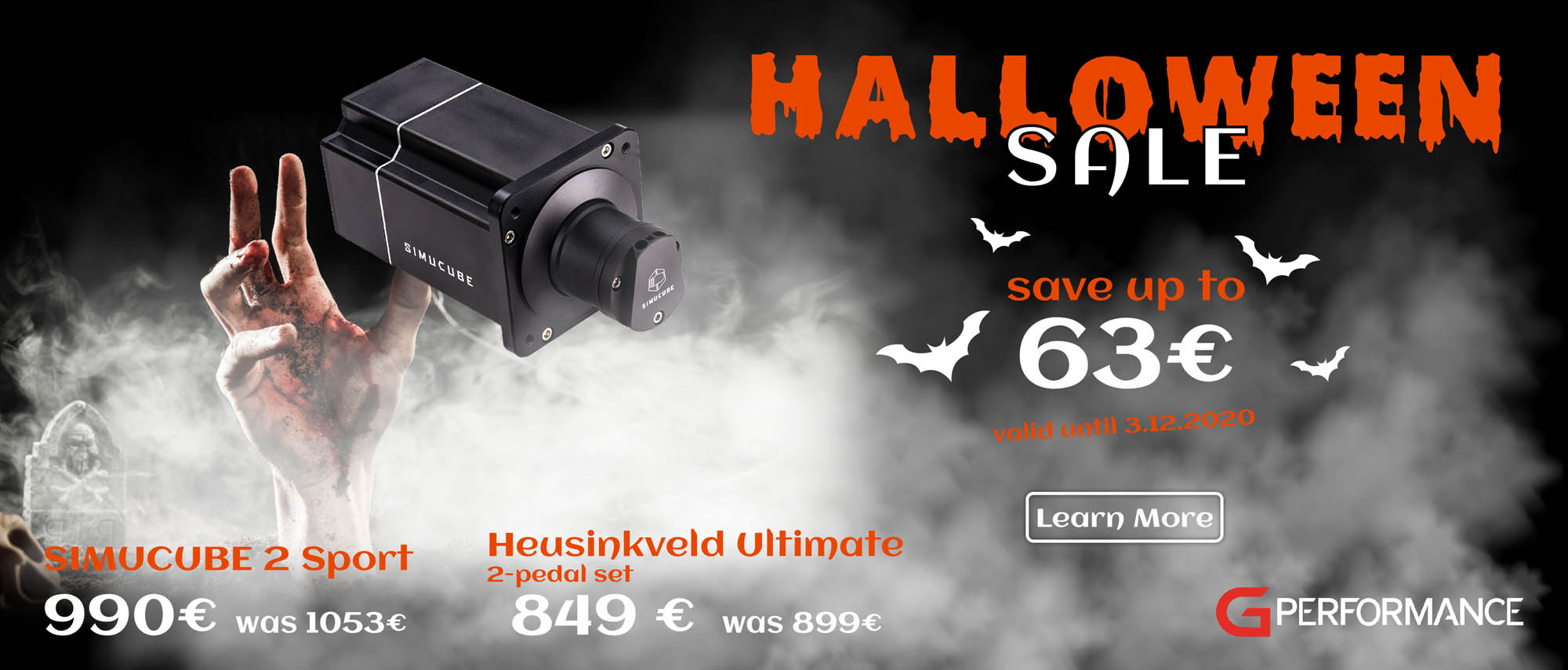 shop.gperformance.eu-Halloween-Sale-2020-save-up-to-63-Euro-front-page-G-Performance