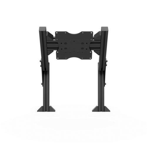 Quad monitor stand add-on