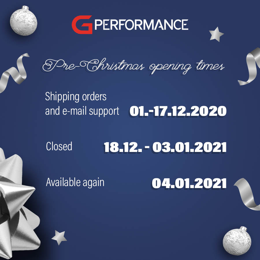 Christmas opening times - G-Performancesquare
