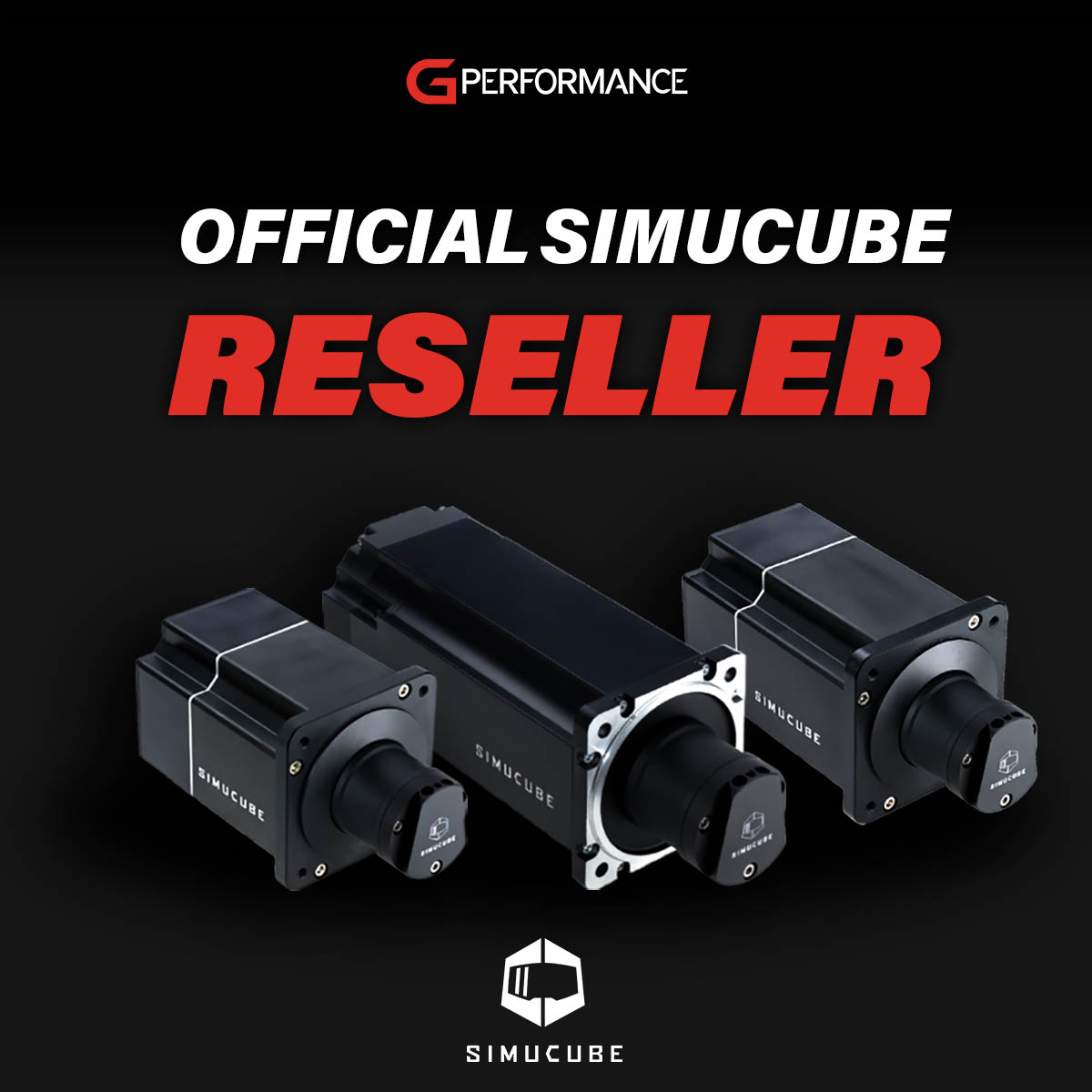 G-Performance announce official Simucube Reseller Status - square